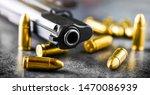 Hand Gun Detail With Ammunitio...
