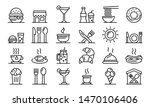 food courts icons set. outline... | Shutterstock .eps vector #1470106406