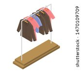 clothes on hanger icon.... | Shutterstock .eps vector #1470109709