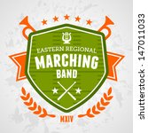 marching band drum corp emblem... | Shutterstock .eps vector #147011033