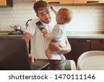 Multitasking Father Working...