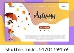 autumn sale website landing... | Shutterstock .eps vector #1470119459