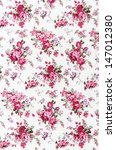 rose bouquet on fabric for... | Shutterstock . vector #147012380