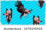 vulture bird vector...   Shutterstock .eps vector #1470145433