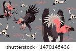 vulture bird african animal... | Shutterstock .eps vector #1470145436