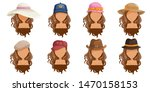 Womens Hats Set. Collection Of...