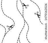 abstract lines scissors waves... | Shutterstock .eps vector #1470162026