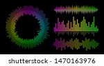vector music wave equalizer set....