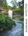 minnehaha falls in minneapolis  ... | Shutterstock . vector #147017510