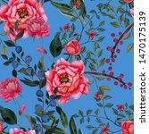 watercolor seamless pattern... | Shutterstock . vector #1470175139