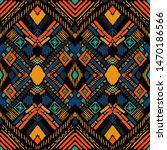 tribal vector ornament.... | Shutterstock .eps vector #1470186566