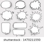 set of speech bubbles. halftone ... | Shutterstock .eps vector #1470211550