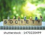 miniature people  group of...   Shutterstock . vector #1470220499