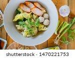 thai food  shrimp dumplings ... | Shutterstock . vector #1470221753