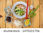thai food  shrimp dumplings ... | Shutterstock . vector #1470221756