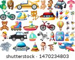set of different toys... | Shutterstock .eps vector #1470234803