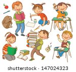 cute school children. school... | Shutterstock .eps vector #147024323