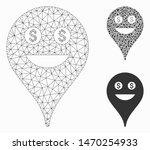 mesh rich smiley map marker... | Shutterstock .eps vector #1470254933