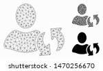 mesh refresh model with... | Shutterstock .eps vector #1470256670