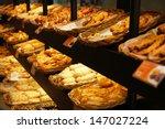 various bread type on shelf in... | Shutterstock . vector #147027224