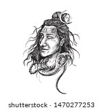 lord shiva face tattoo  ... | Shutterstock .eps vector #1470277253
