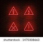 neon warning signs vector... | Shutterstock .eps vector #1470308663