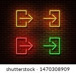 neon entrance  exit signs... | Shutterstock .eps vector #1470308909