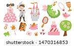 vector set of fairy tale story... | Shutterstock .eps vector #1470316853