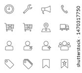universal e commerce line icons ...