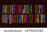 vector embroidery alphabet with ... | Shutterstock .eps vector #1470325553