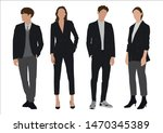 Vector Of Young Businessman An...