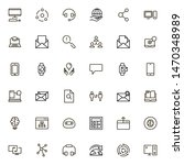 online consultation icon set.... | Shutterstock .eps vector #1470348989