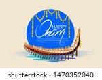 illustration of happy onam... | Shutterstock .eps vector #1470352040
