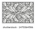 black and white decorative... | Shutterstock .eps vector #1470364586