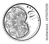 ethnic cresent moon motif.... | Shutterstock .eps vector #1470370250