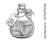 bottle with magic calming... | Shutterstock .eps vector #1470370256