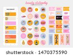 set of weekly planners and to... | Shutterstock .eps vector #1470375590