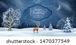 christmas night background.... | Shutterstock .eps vector #1470377549