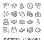 money icon. money and finance... | Shutterstock .eps vector #1470380876
