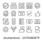 approve icon. approved and... | Shutterstock .eps vector #1470380879