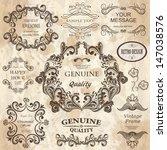 vector set  calligraphic design ... | Shutterstock .eps vector #147038576