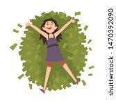 lucky successful rich girl... | Shutterstock .eps vector #1470392090