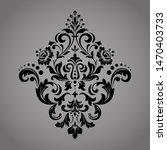 damask graphic ornament. floral ... | Shutterstock . vector #1470403733