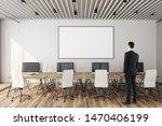 businessman in modern coworking ... | Shutterstock . vector #1470406199