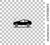 car diagnostics. black flat...