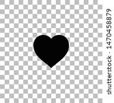 heart. black flat icon on a...