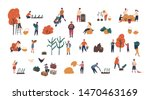 crowd of tiny people gathering... | Shutterstock . vector #1470463169