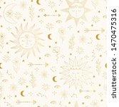 golden pattern with stars ...   Shutterstock .eps vector #1470475316