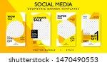 social media story layout for... | Shutterstock .eps vector #1470490553