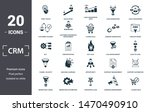 crm icon set. contain filled... | Shutterstock .eps vector #1470490910